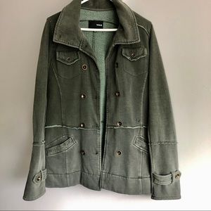 Hurley Green Cotton Utility Jacket